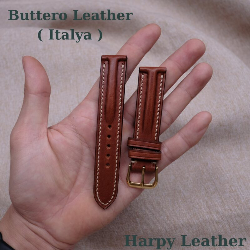 buttero leather watch strap