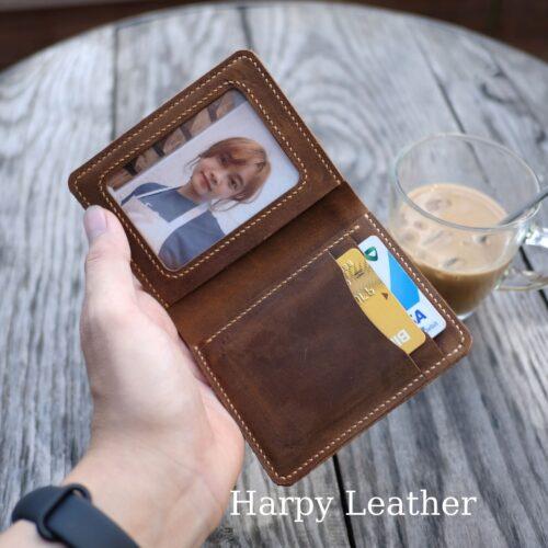 Crazy horse craft wallet